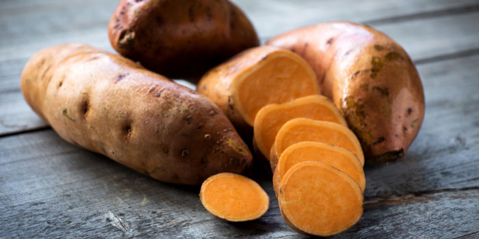 Sweet Potatoes are not only yummy, but chock-full of Vitamin A. Photo via  BBC Goodfood