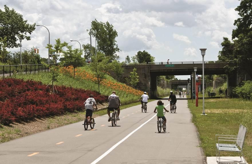 Who's up for the scenic route? Photo via  Detroit Riverfront Conservancy