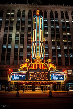 The Fox Theatre. Photo via  Wikipedia