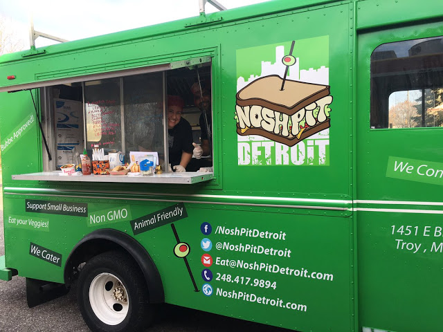 The Nosh Pit, a vegan and vegetarian food truck, will be at the Bookfest. Photo via  Hip in Detroit