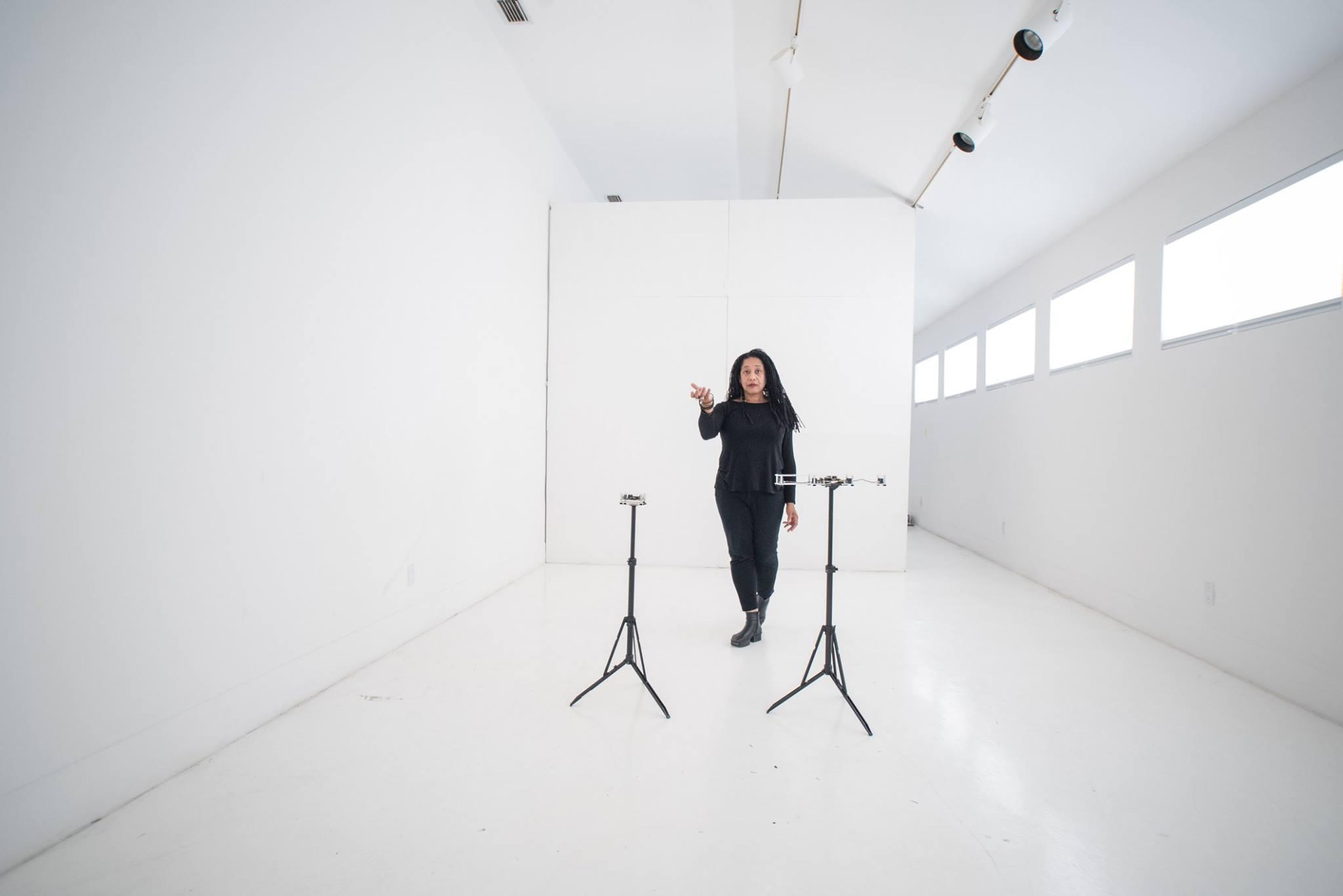 Composer, performer and media artist, Pamela Z. Photo via Red Bull Arts Detroit