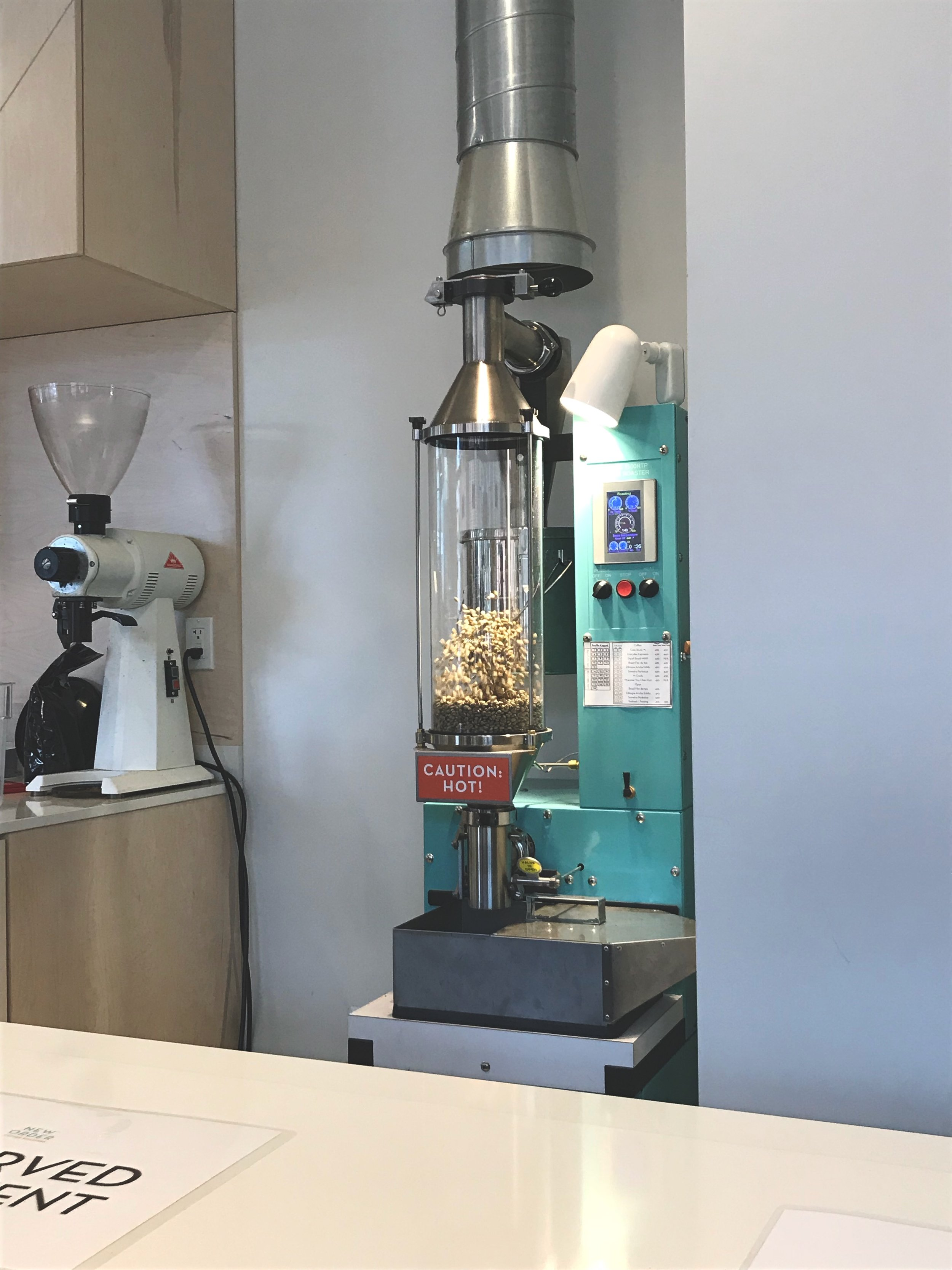 The main attraction at a New Order coffee roasting class