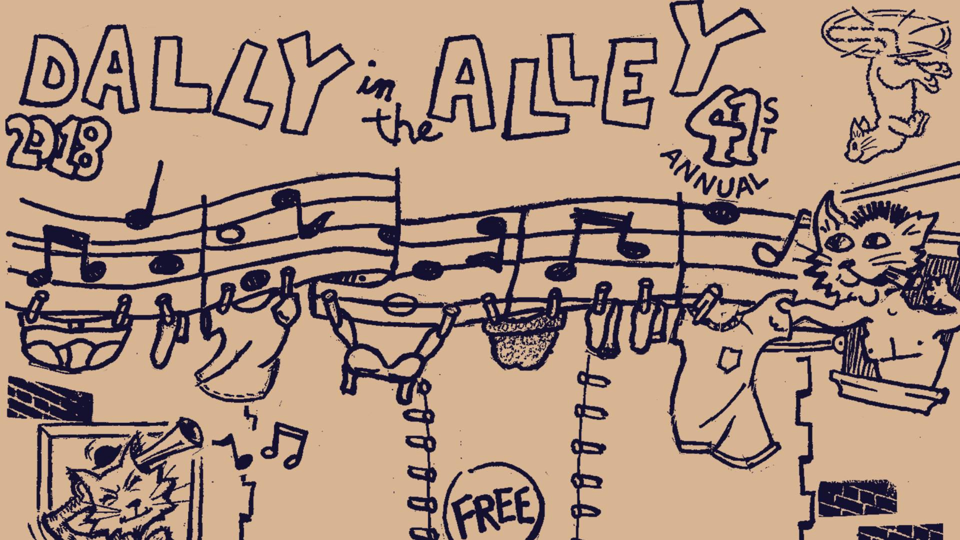 Photo from  Dally in the Alley 2018  on Facebook. Art by Brian Taylor