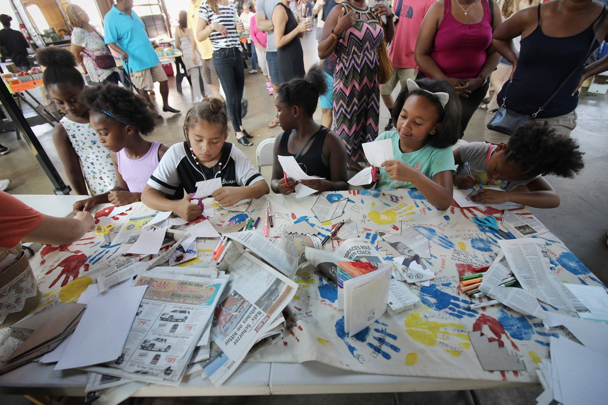 """Photo via """"Murals in the Market and Green Living Science Kid's Workshop"""" on Facebook"""