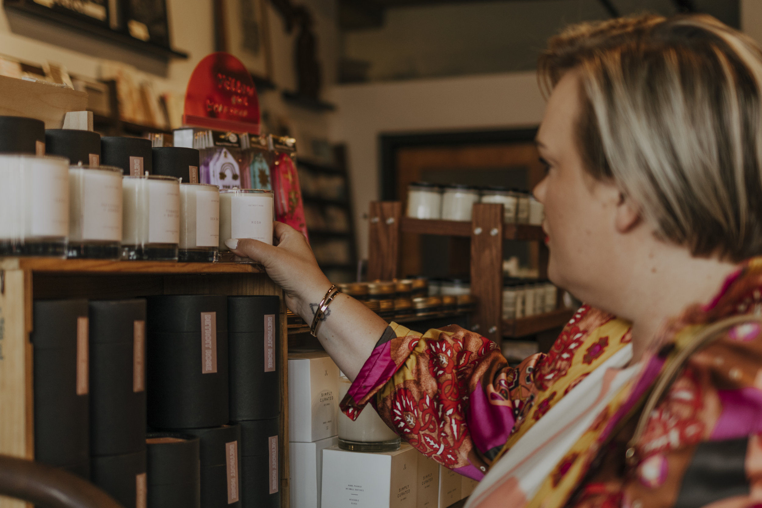 Our girl C-Money buying our favorite candles from  @thedetroitrose.  Look out for the collab candle with j'adore Detroit. Photo credits:  Daniela Lisi