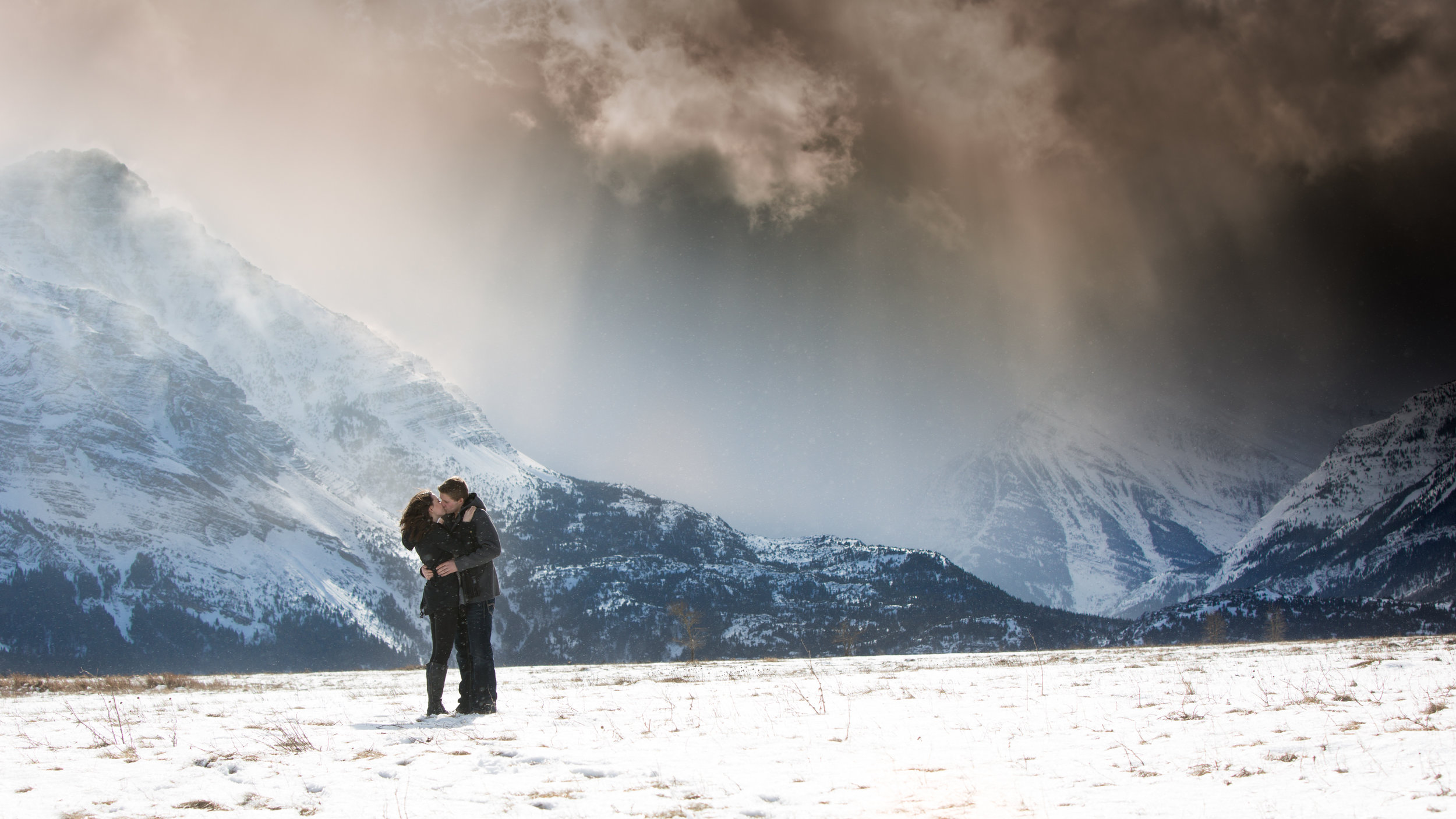 Just as Eric and Brianne step into the field, the wind kicked up and sun broke through the clouds, it was beautiful!