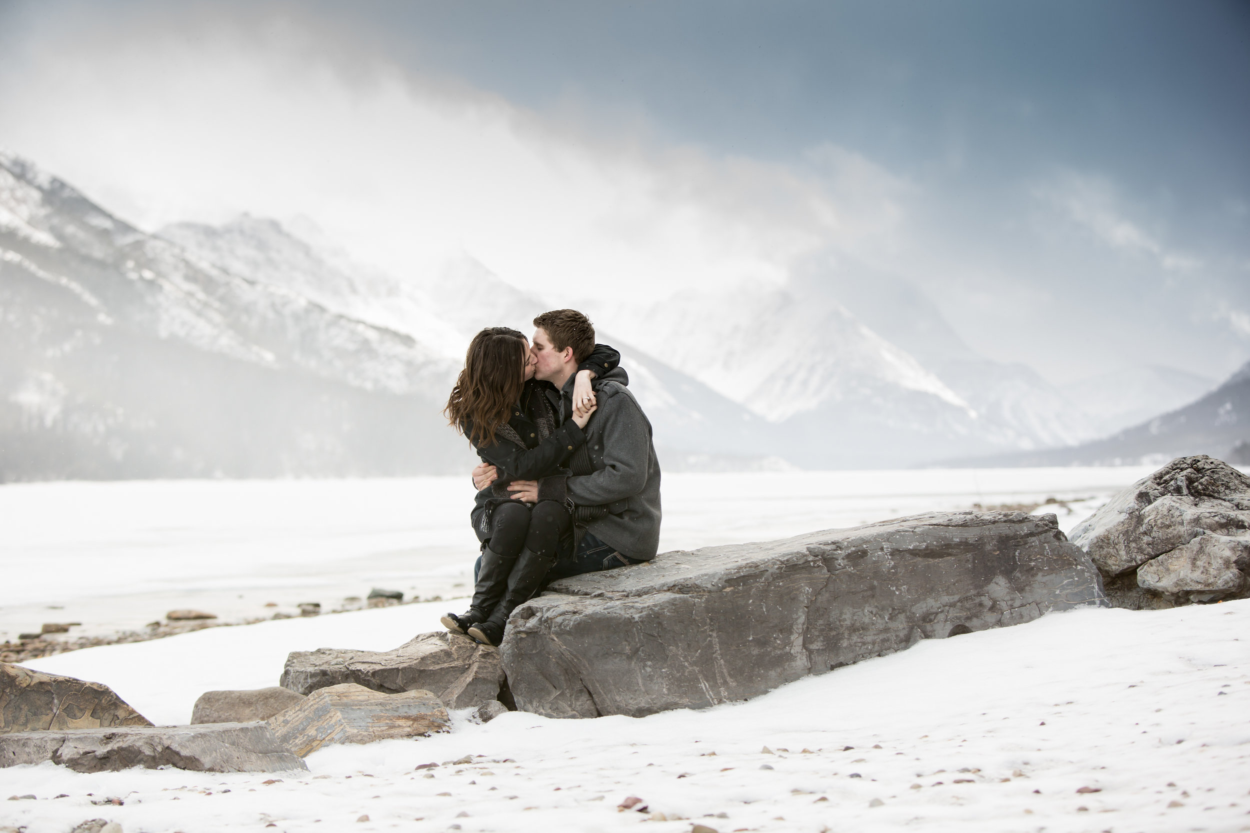 Waterton Lakes Winter Engagement Session