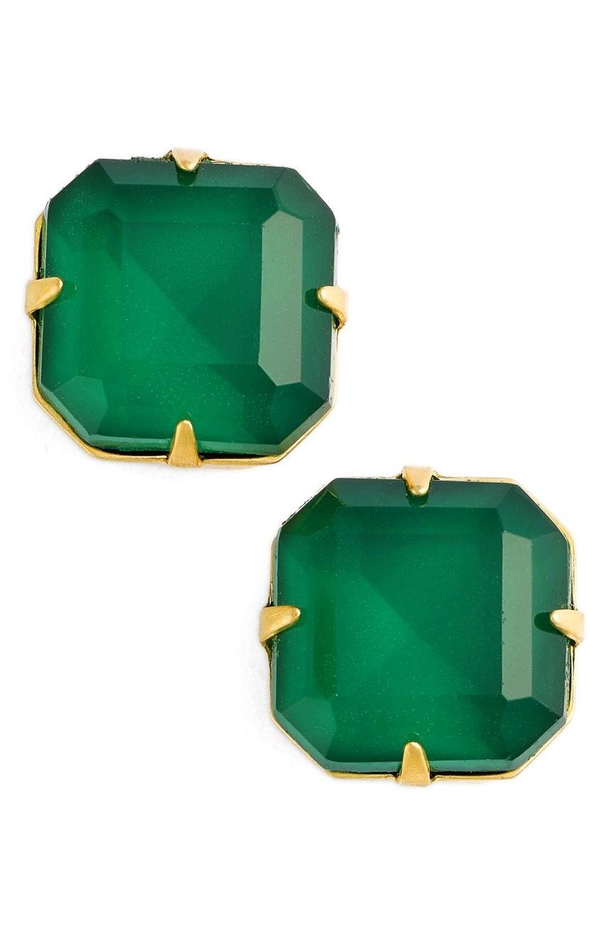 Loren Hope 'Sophia' Stud Earrings in Emerald