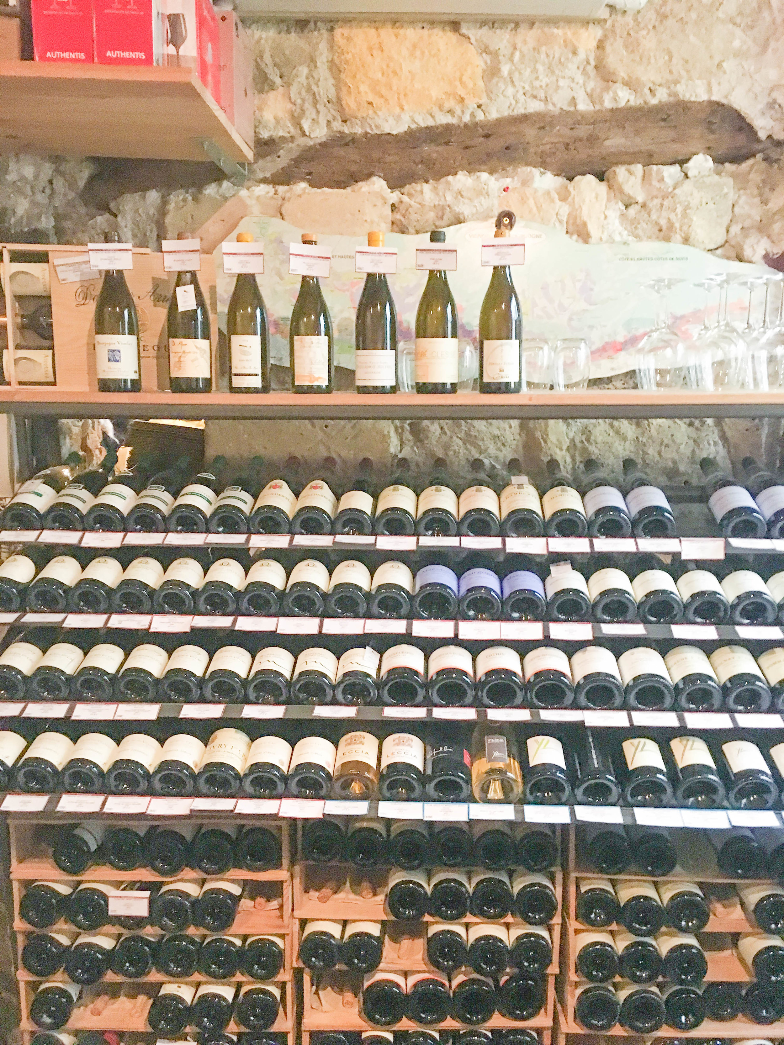 Wines at La Derniere Goutte in Paris