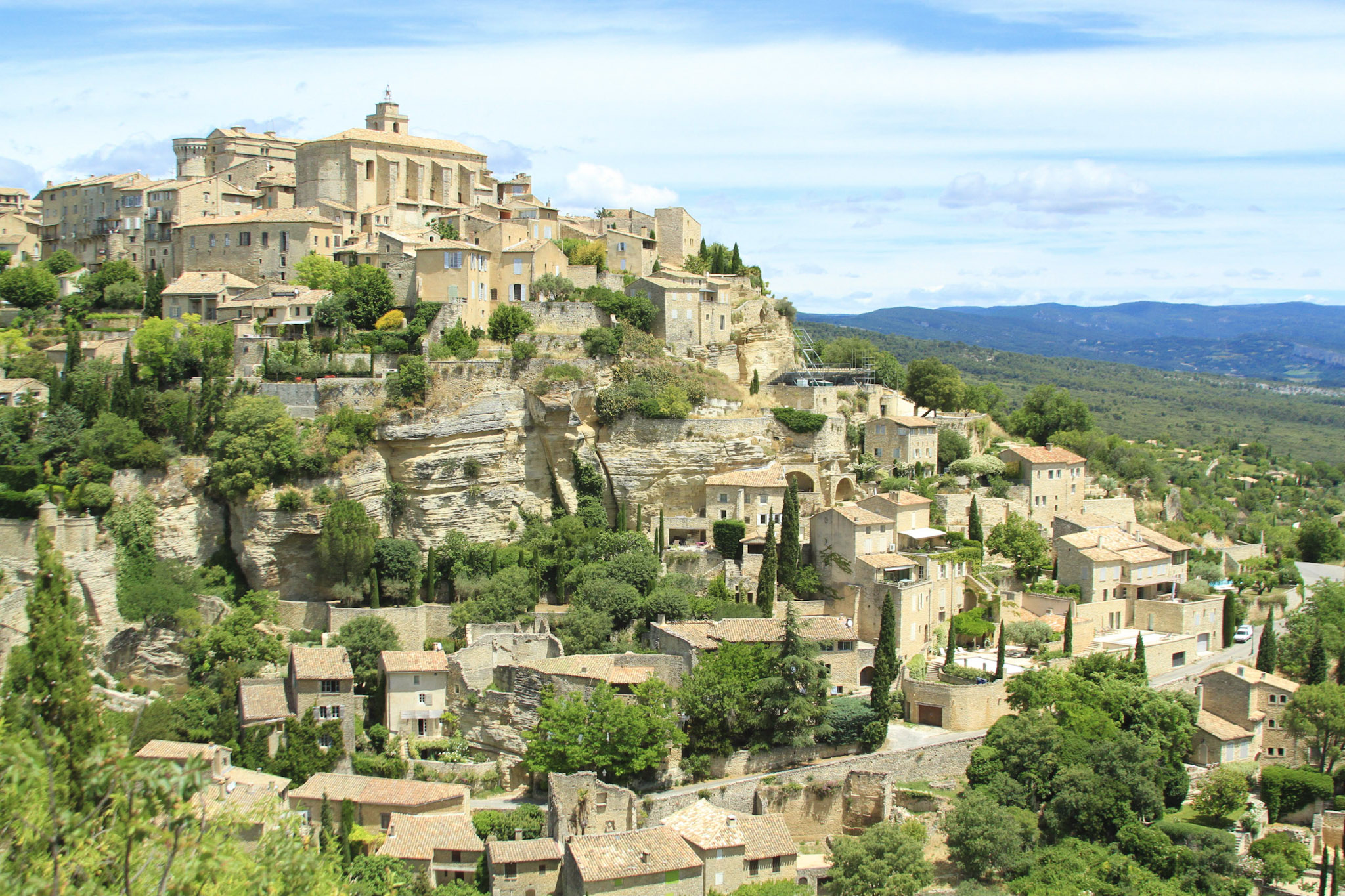 """Possibly the most well-known town of the Luberon region, Gordes is a great place to start exploring Provence. It's certainly more posh and built up than its neighbors, and is very popular, so be sure to arrive early in the day...."" 