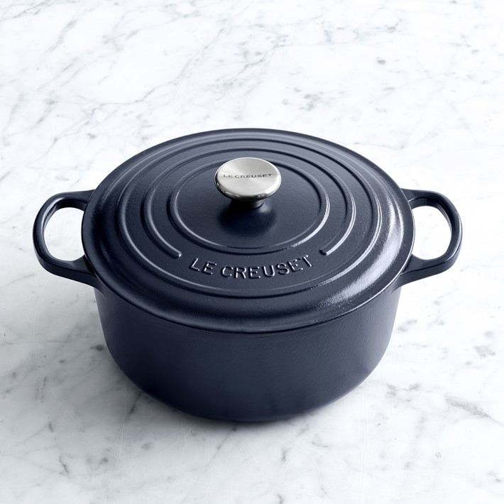 5.5-Quart Navy Dutch Oven, $320 | the weekly edit