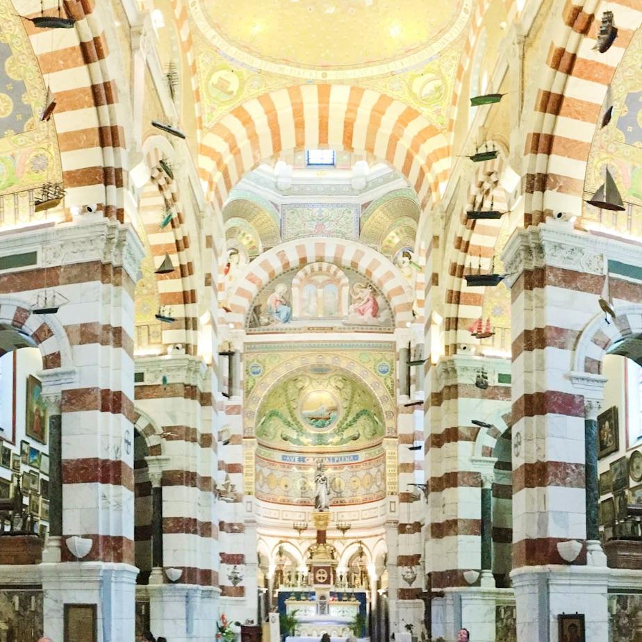 Basilique Notre-Dame de la Garde in Marseille, France #mfrancisdesigntravels