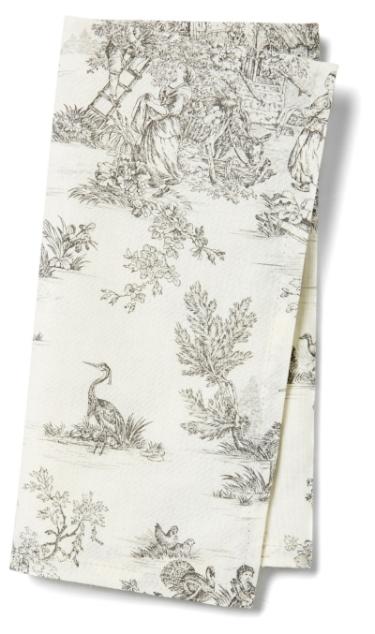 grey toile napkin