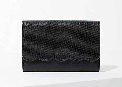 scallop edge wallet
