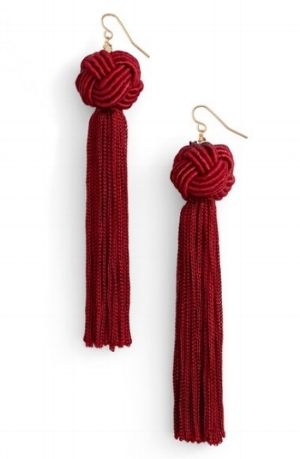 Knotted Tassel Earrings on The Weekly Edit