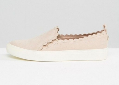 Scalloped Blush Sneakers on the Weekly Edit