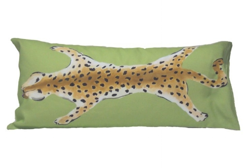Green Leopard Lumbar Pillow on the Weekly Edit