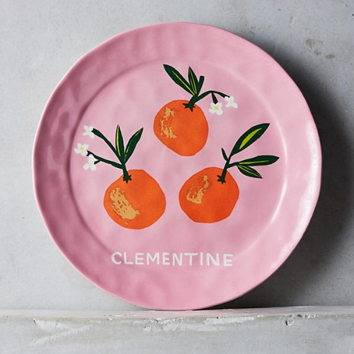 Clementine Dessert Plate on the Weekly Edit