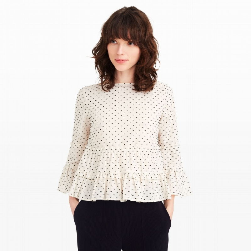 Ruffled Clip Dot Top on the Weekly Edit