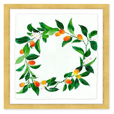 Gabby Malpas Framed Wreath Print on the Weekly Edit
