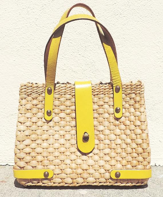 Vintage Straw Handbag on the Weekly Edit