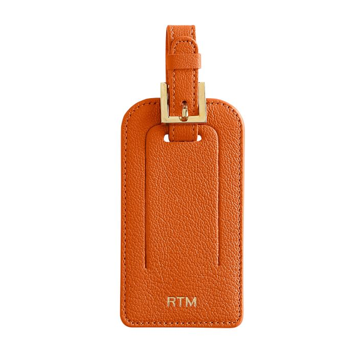 Monogrammed Leather Luggage Tag on the Weekly Edit