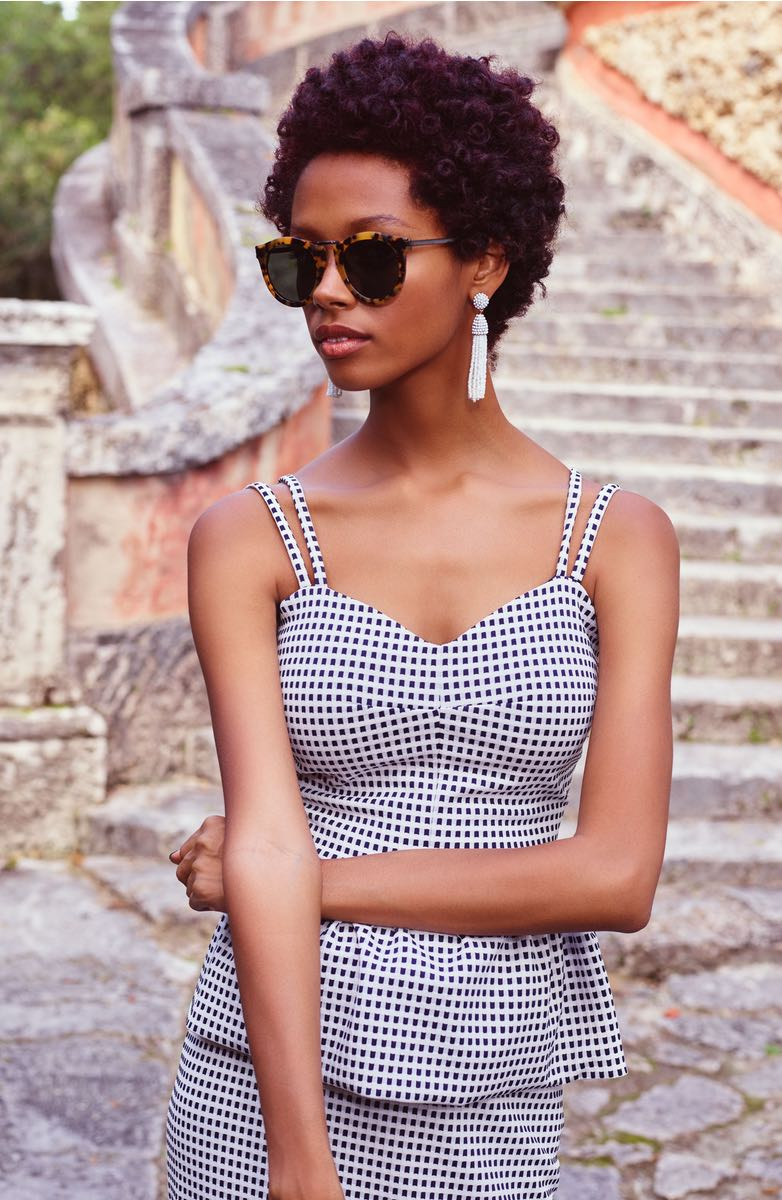 Patterned Peplum Top on the Weekly Edit