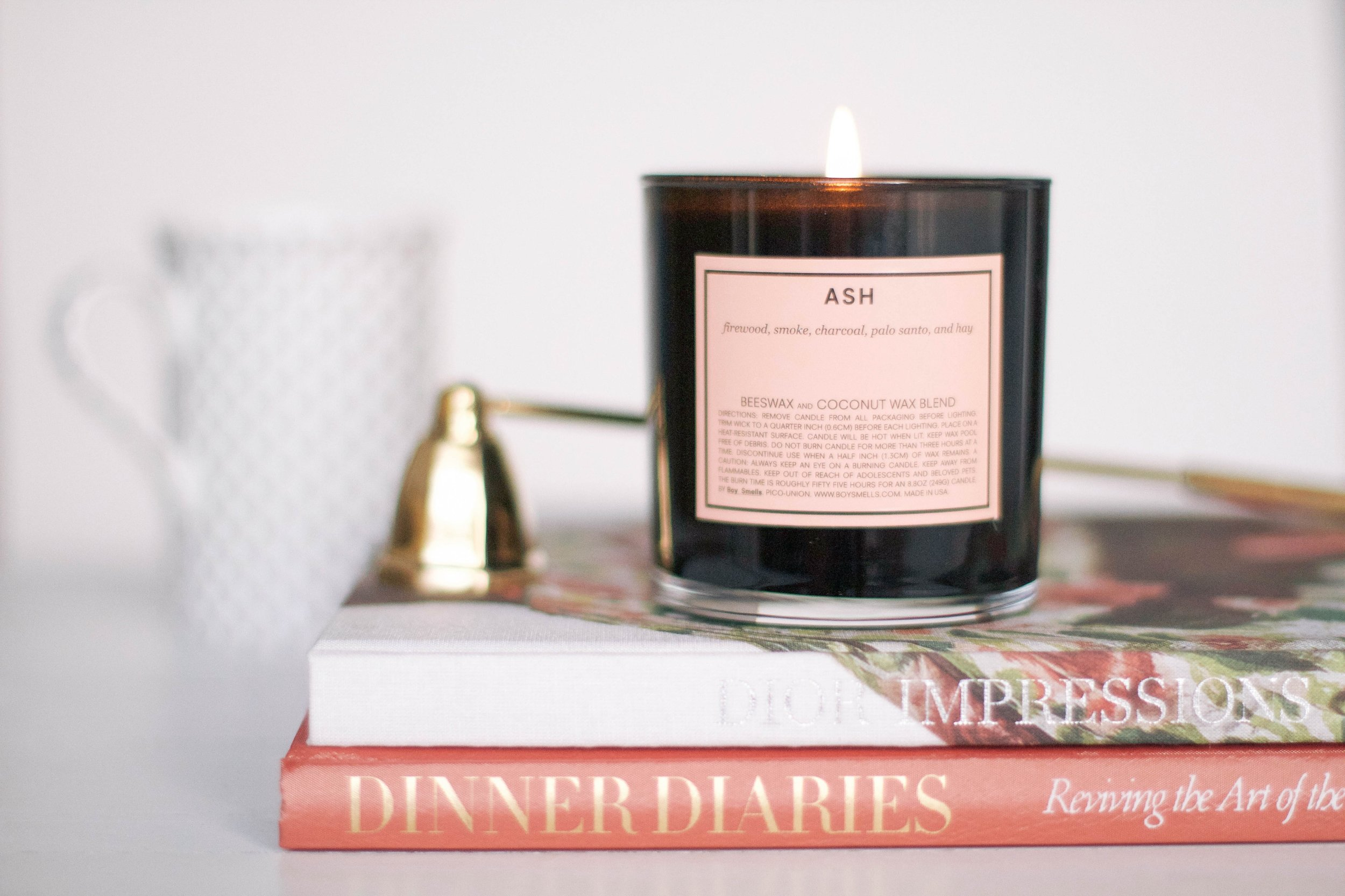 candle    ,         candle snuffer    ,         dior impressions    ,         dinner diaries    .