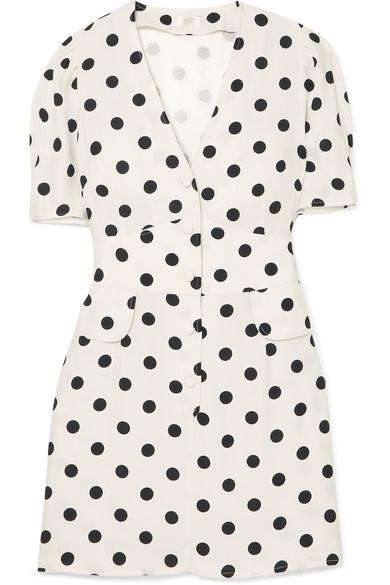 Rixo London Polka Dot Mini Dress