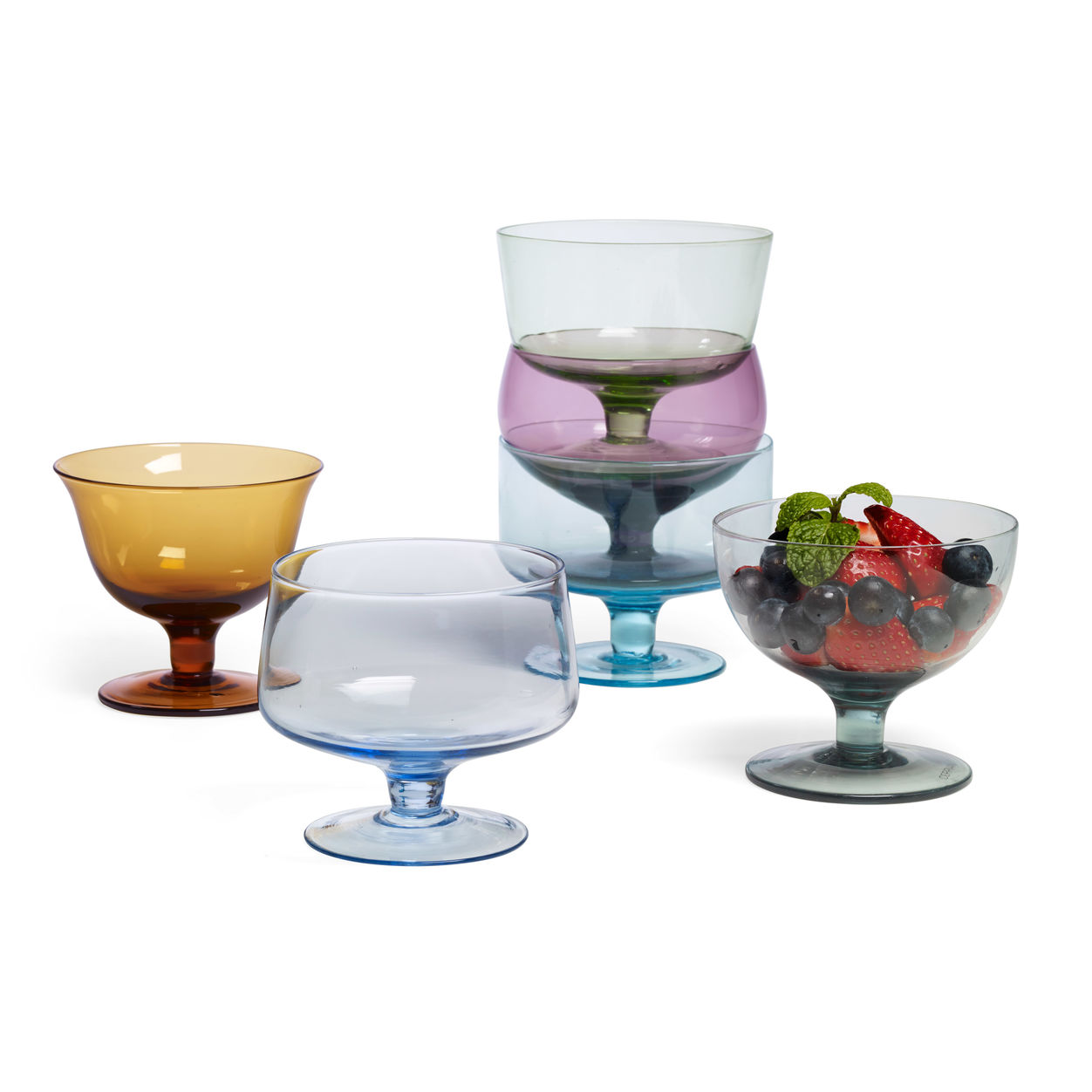 MoMA glass dessert bowls
