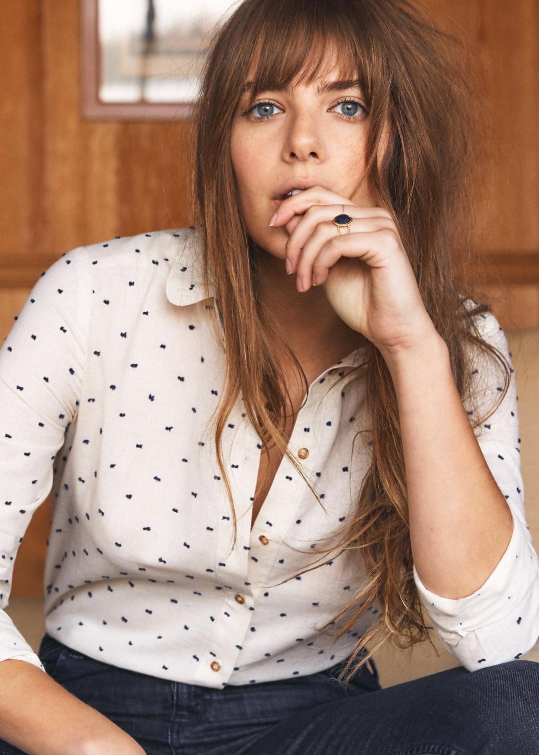 Sezane Tomgirl Clip Dot Shirt