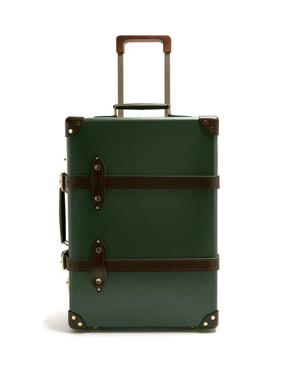 "Globe-Trotter 20"" Suitcase, Green"