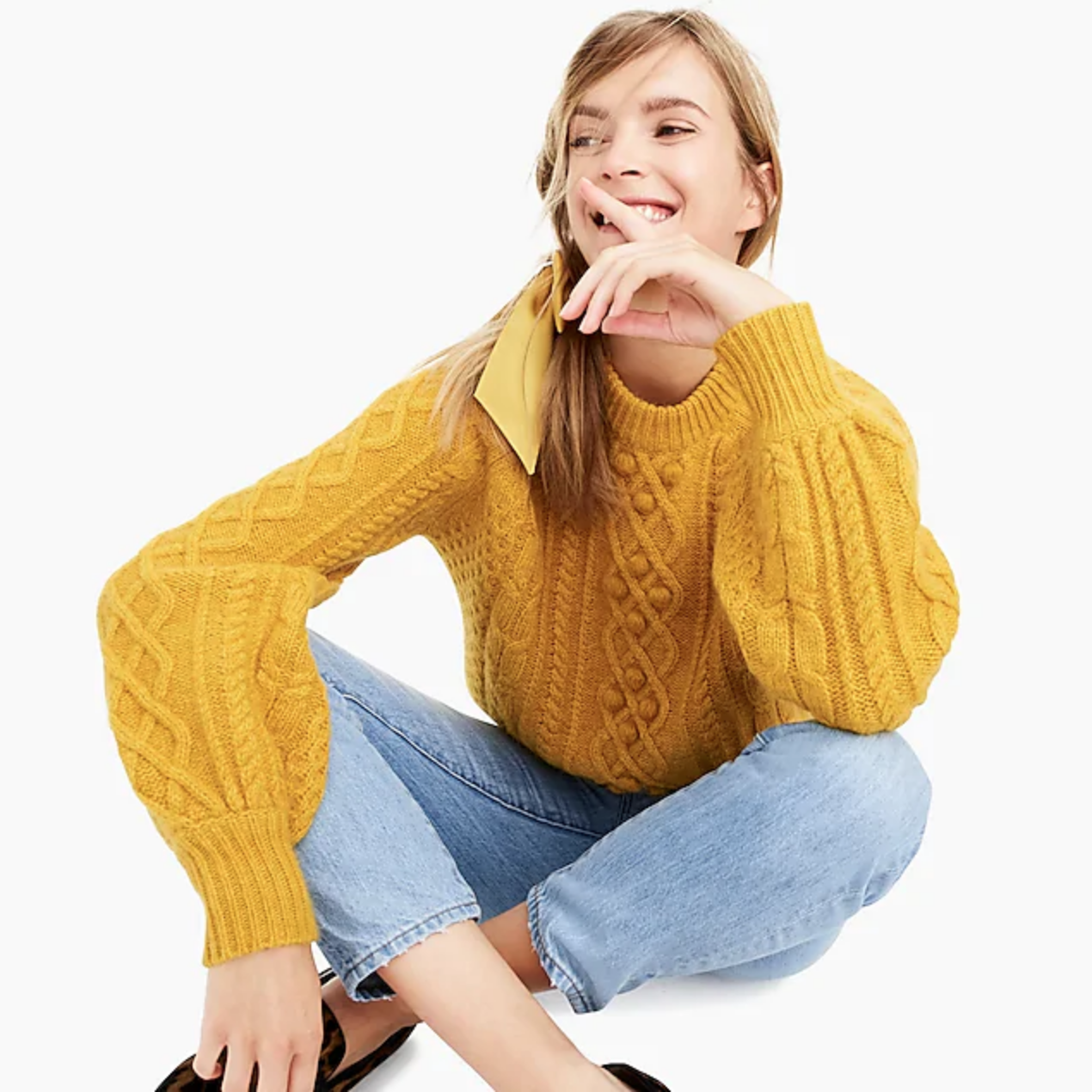 October Finds: J. Crew Balloon-Sleeve Sweater