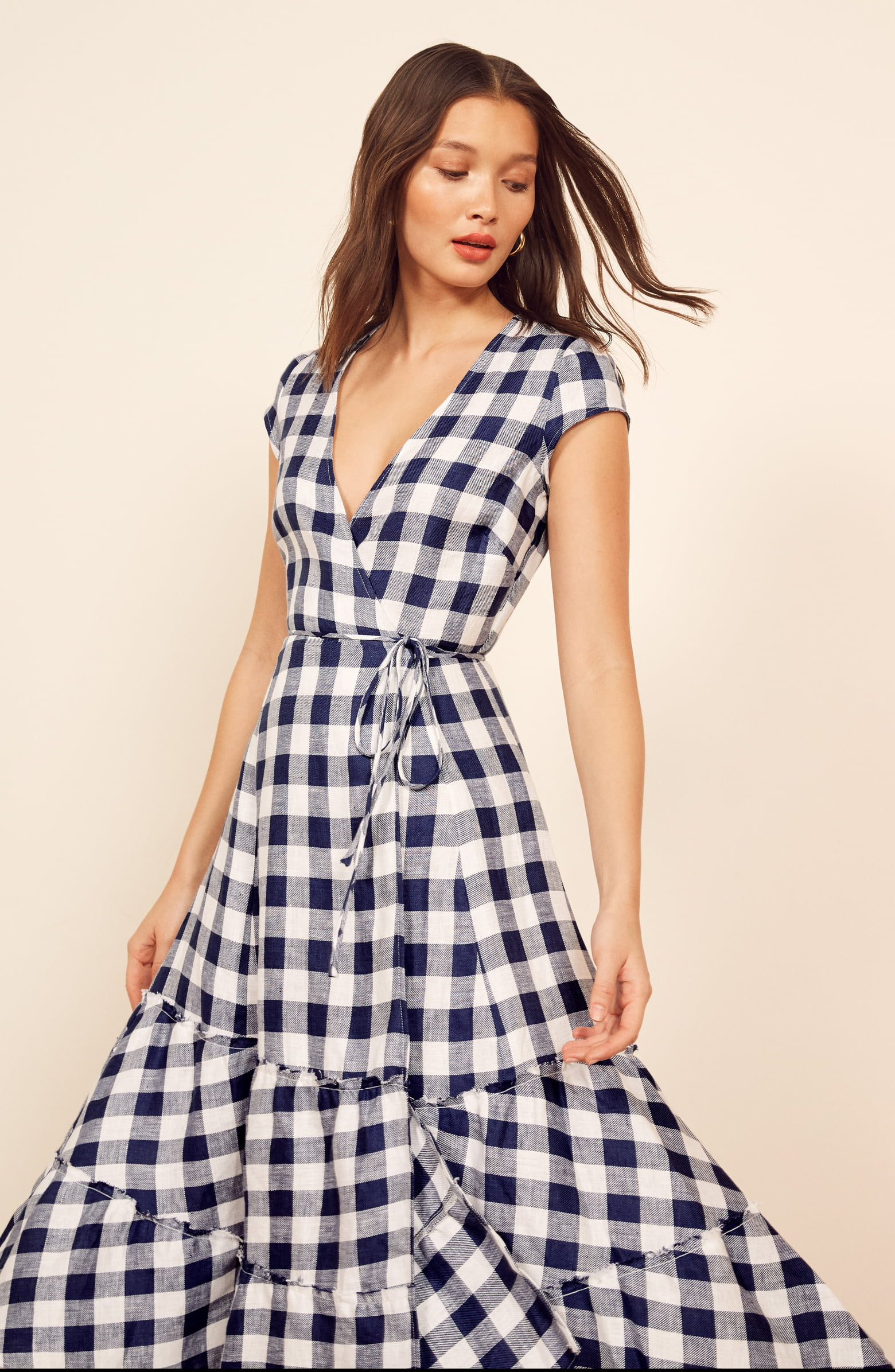 Reformation Calista Dress in Gingham