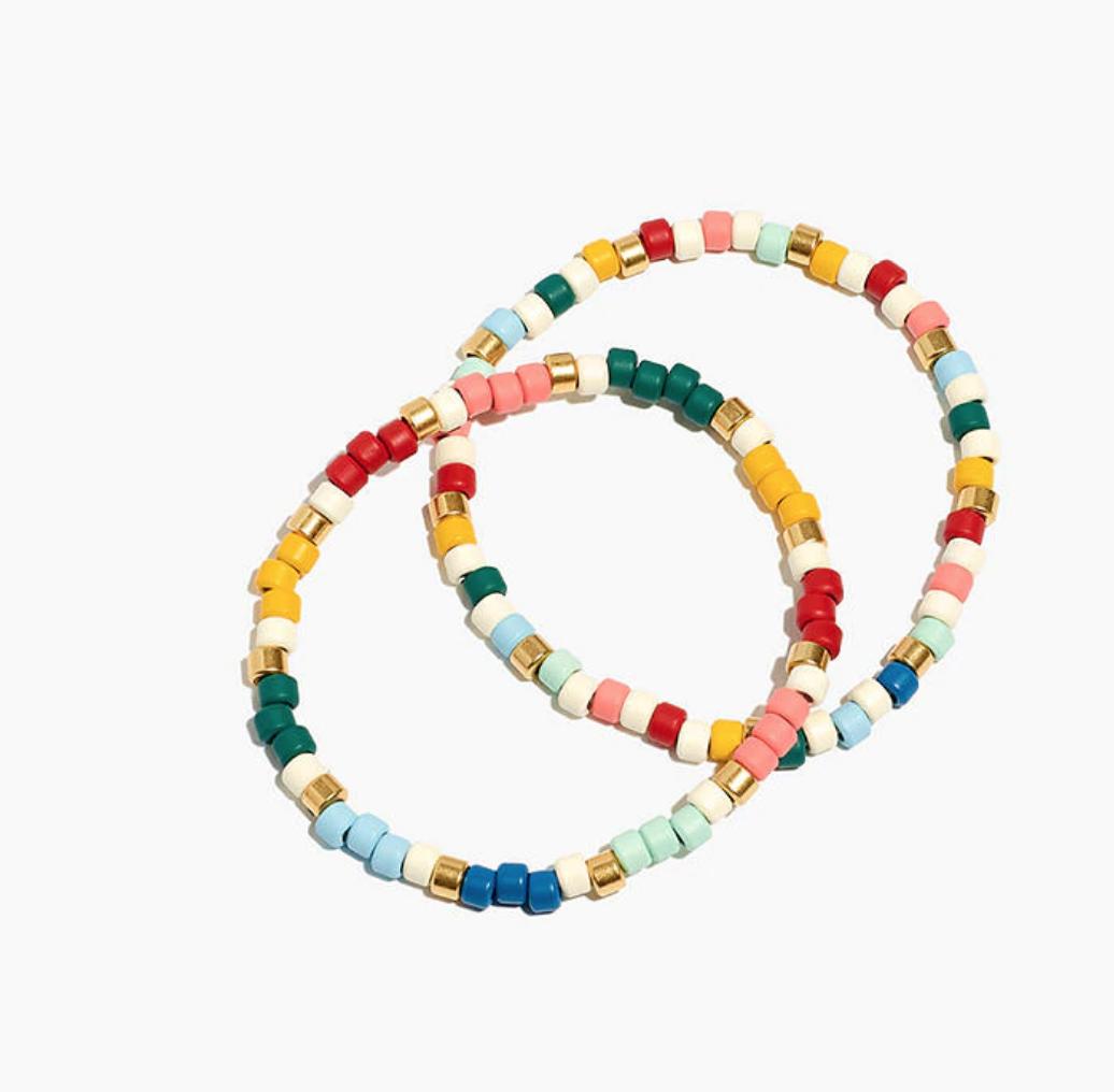 Madewell Enamel Beaded Bracelets