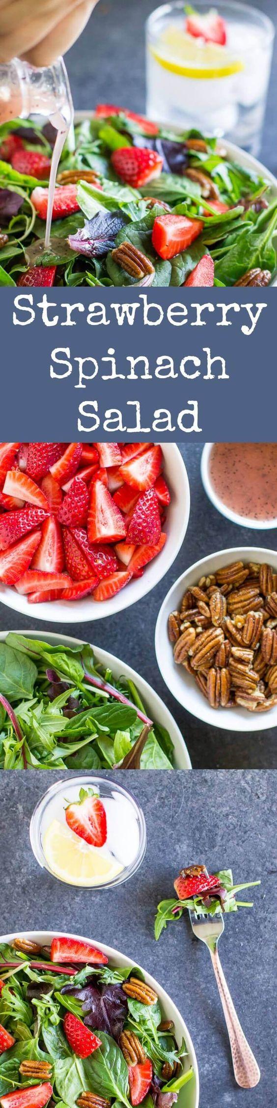 PC:http://www.culinaryhill.com/strawberry-pecan-spinach-salad/
