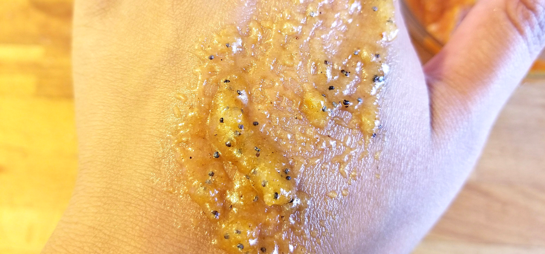pumpkin poppy sugar scrub