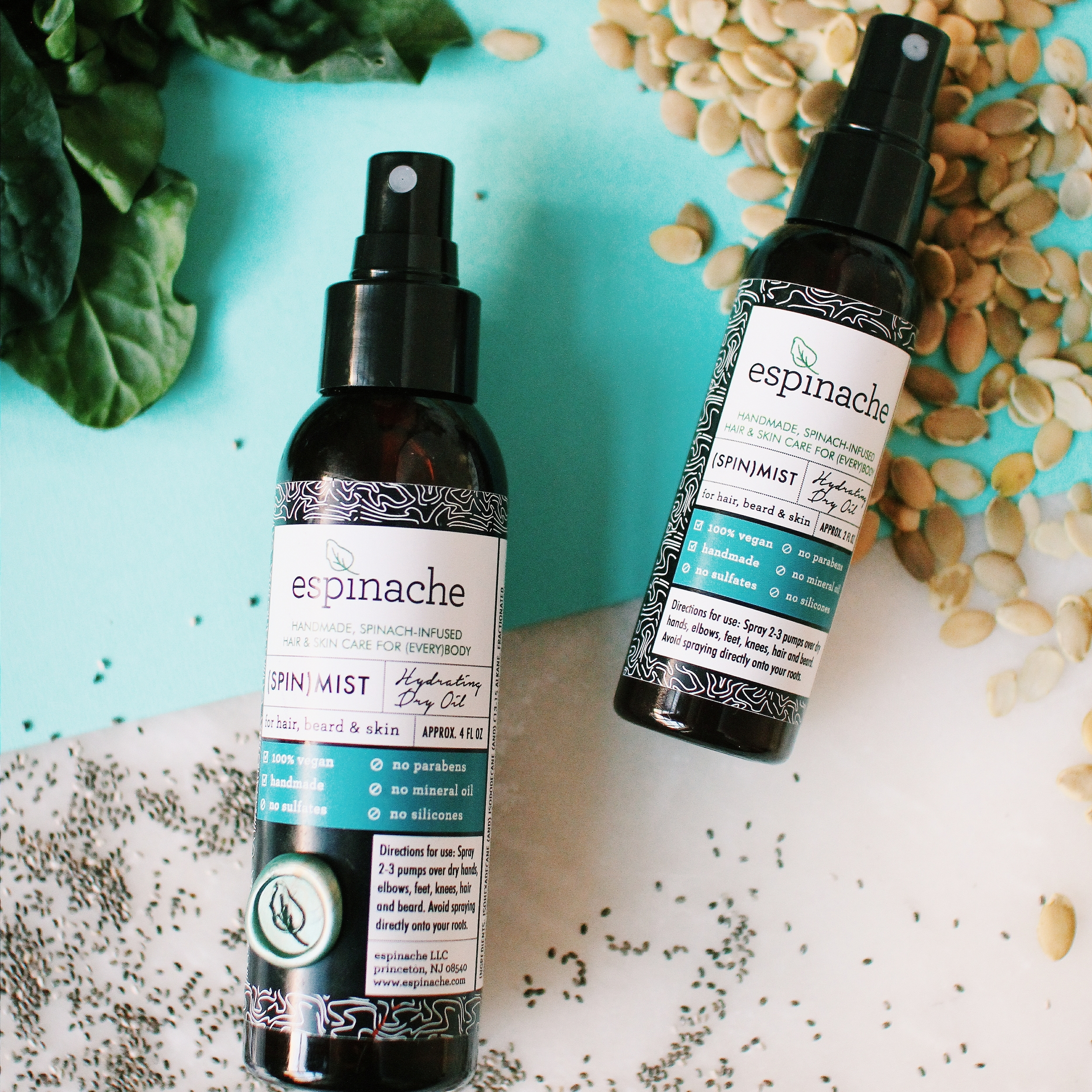 (SPIN)MIST - If DIY isn't quite your thing, treat your hair and skin to the potent benefits of pumpkin seed oil - perfect for fall.🍂 We carefully selected Pumpkin Seed Oil as a primary ingredient in our (SPIN)Mist Hydrating Dry Oilbecause of its uncanny ability to deeply hydrate both hair and skin.