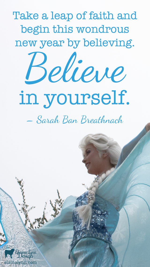 Background Believe in yourself Mobile Enchanted Type
