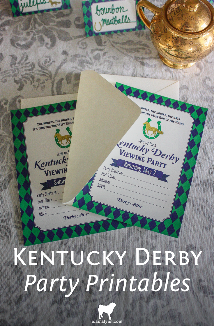 Kentucky Derby 2015 Party Printables