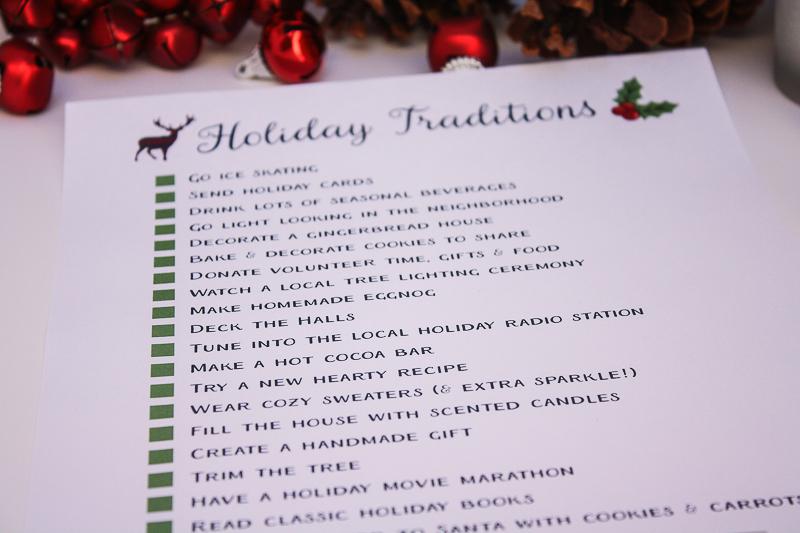 Free Printable Holiday Checklist - Enchanted Type