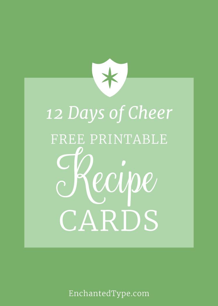 Free Printable Recipe Cards - Enchanted Type