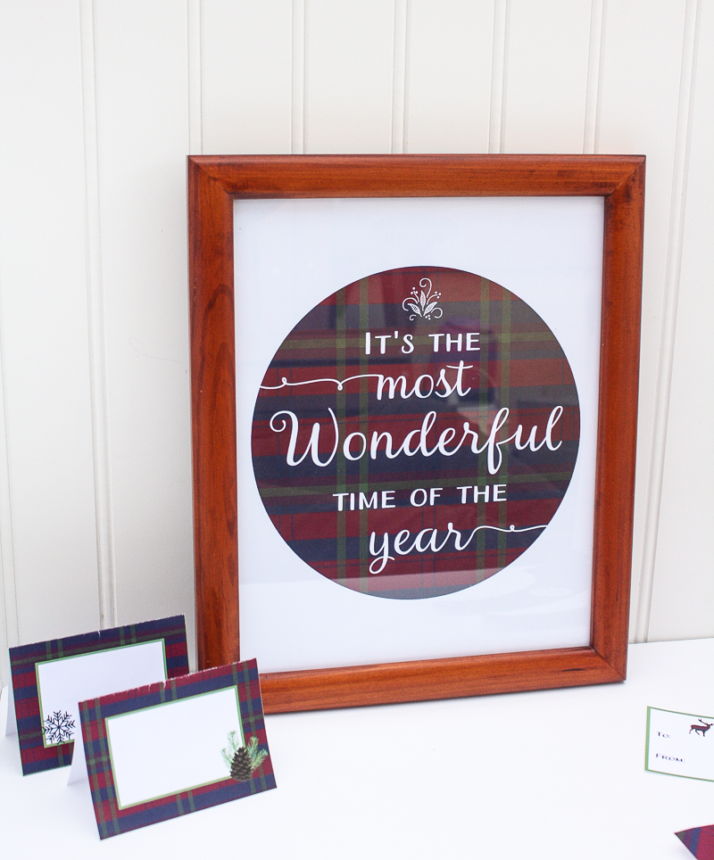 Free Printable Holiday Wall Art - Enchanted Type