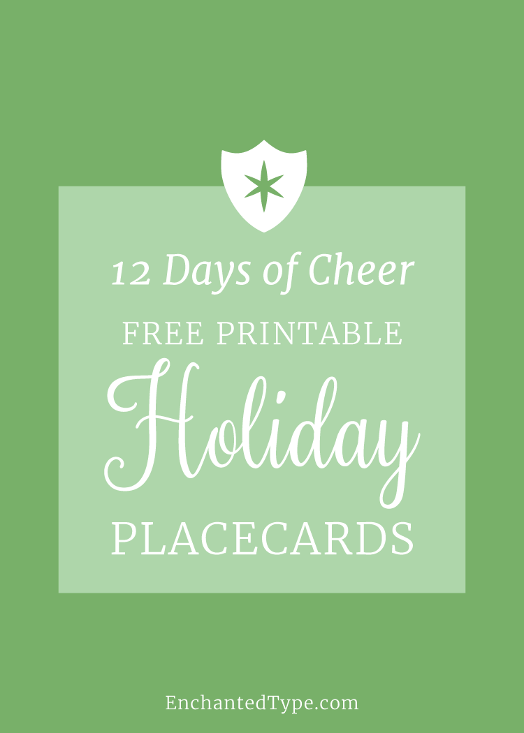 Free Printable Holiday Placecards - Enchanted Type