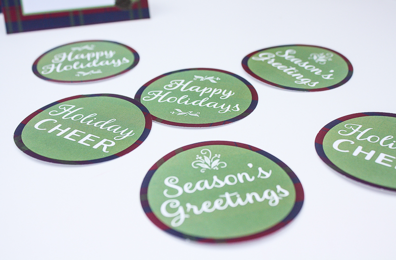 Printable Holiday Labels - Enchanted Type