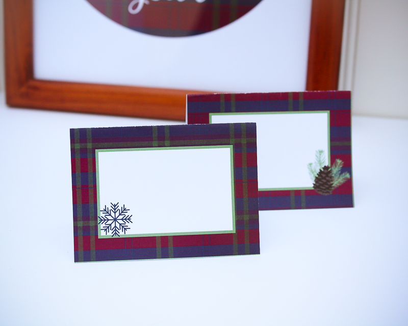 Printable Placecards for the Holidays - Enchanted Type