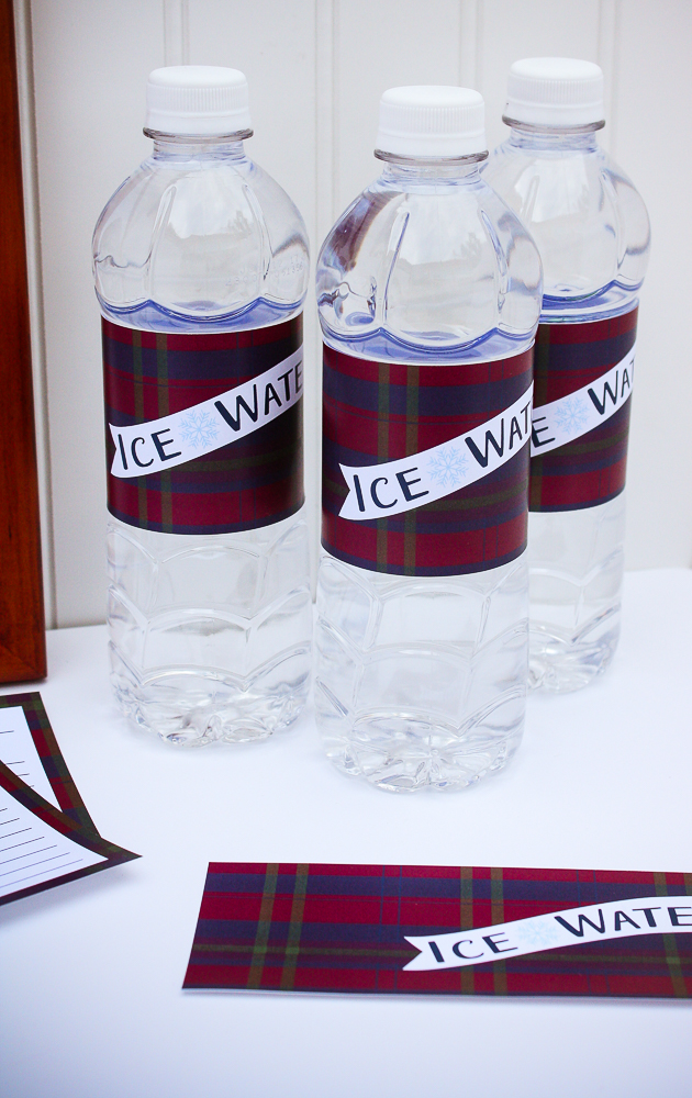 Water Bottle Wraps for the Holidays - Enchanted Type