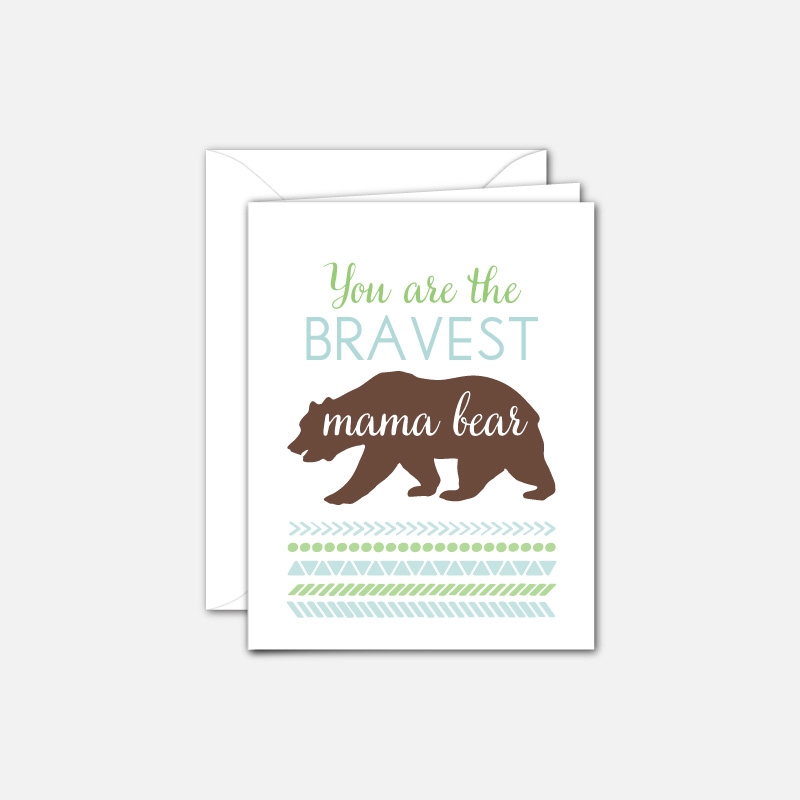 Mother's Day card for mama bears