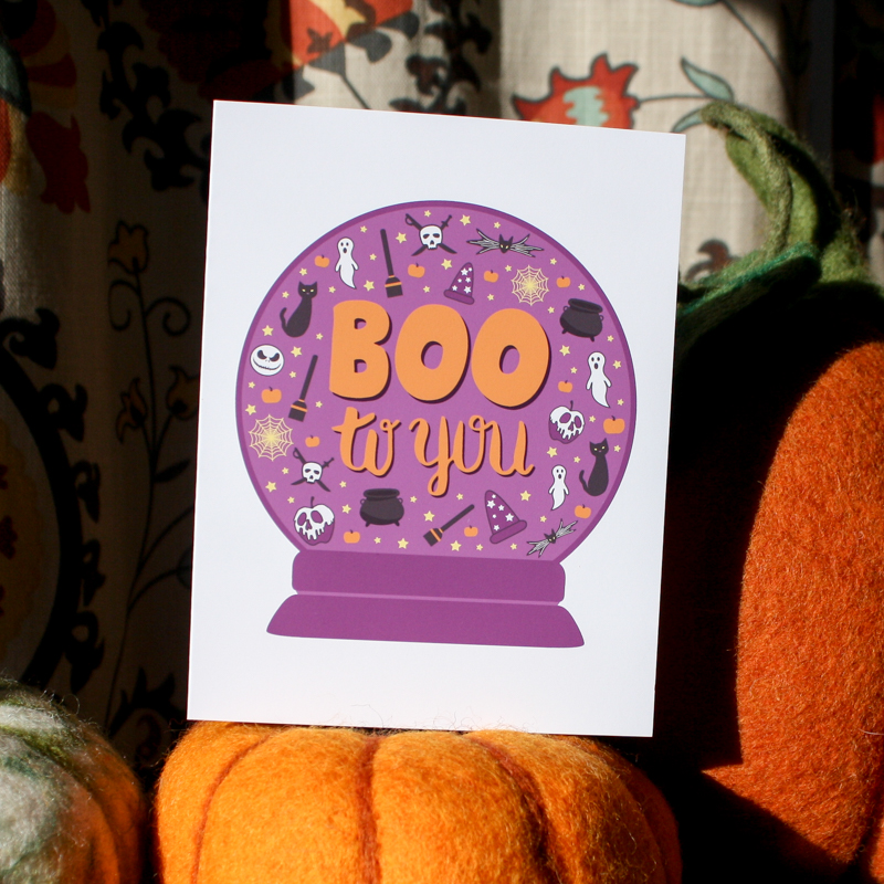 Boo to you Halloween greeting card