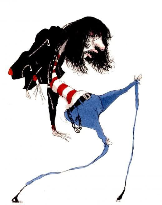"Tim Burton.    Untitled (Ramone). 1980-1990. Pen and ink, marker and colored pencil on paper Overall: 11 x 9"" (27.9 x 22.9 cm). Private"